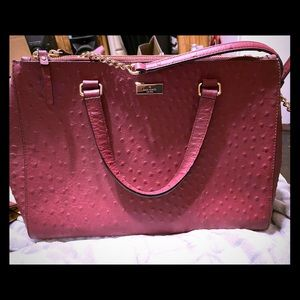 Kate Spade ostrich leather satchel